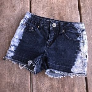Justice Premium Jeans Shorts Blue Bleached Look 10